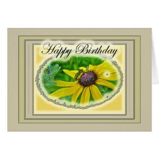 Bee and Black Eyed Susan Happy Birthday Card