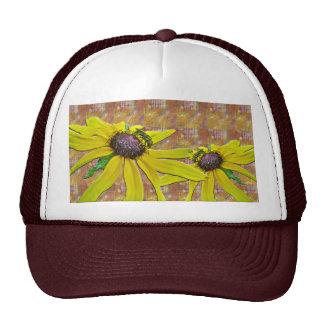 Bee and Black Eyed Susan Welcome Neighbor Trucker Hats