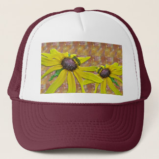 Bee and Black Eyed Susan Welcome Neighbor Trucker Hat