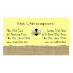 Bee and Burlap Baby Registry Card Business Card