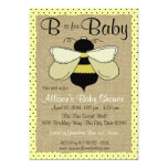 "Bee and Burlap Baby Shower 5"" X 7"" Invitation Card"
