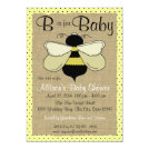 Bee and Burlap Baby Shower 5x7 Paper Invitation Card