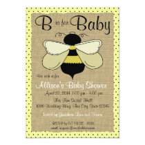 Bee and Burlap Baby Shower Invitation