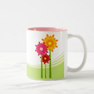 Bee And Daisy Flowers mug