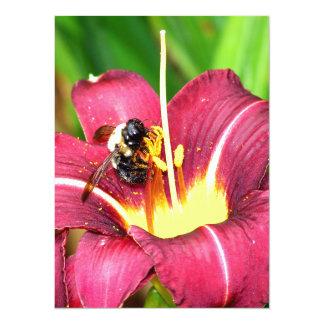 Bee and Daylily Custom Invites