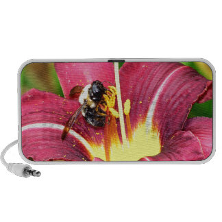 Bee and Daylily Mp3 Speaker