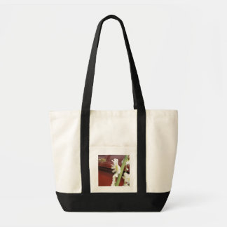 Bee and flower canvas bags