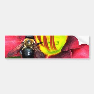 Bee and Flower Bumper Sticker