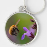 Bee and Flower Keychain
