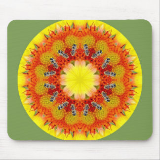 Bee and Flower Mouse Mat