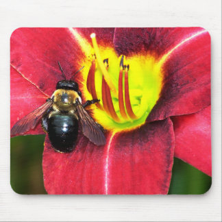 Bee and Flower Mouse Pad