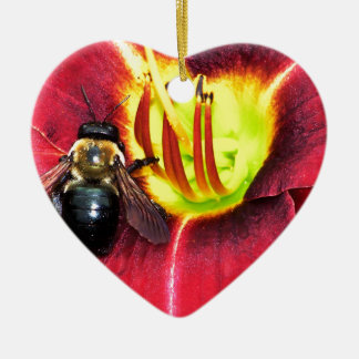 Bee and Flower Christmas Tree Ornaments