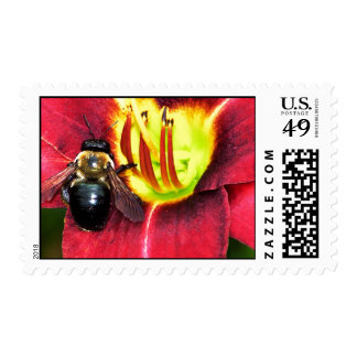 Bee and Flower Stamps