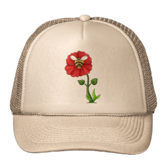 Bee And Flower Trucker Hat