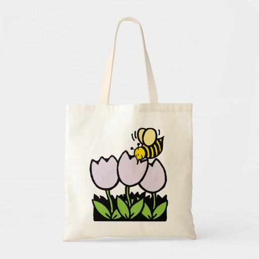 Bee and Flowers Bags