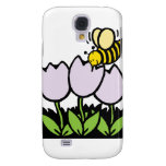 Bee and Flowers Galaxy S4 Case