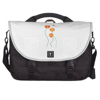 Bee And Flowers Laptop Commuter Bag