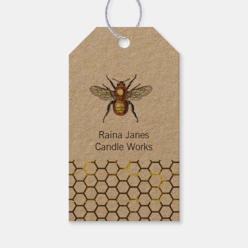 Bee And Honey Comb Product Gift Tags