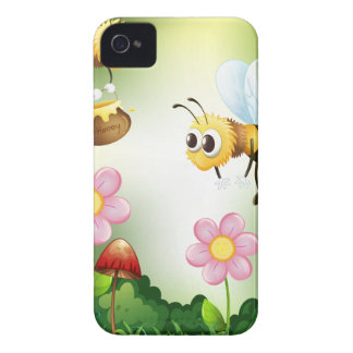 Bee and honey iPhone 4 case