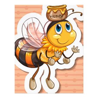 Bee and honey letterhead