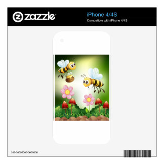 Bee and honey skin for iPhone 4S