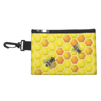 Bee and honeycomb accessory bags
