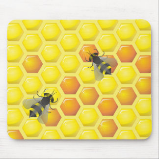 Bee and honeycomb Custom Mouse Pad