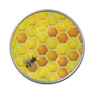 Bee and honeycomb jelly belly tins
