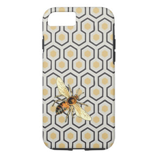 Bee and Honeycomb Pattern iPhone 8/7 Case