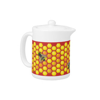 Bee and honeycomb teapot