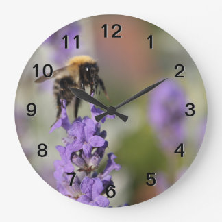 Bee and Lavender Flowers. Clocks