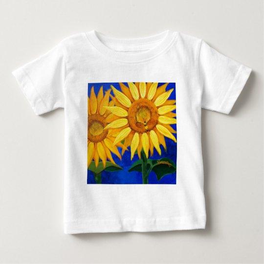 Bee and Sunflower Baby T-Shirt