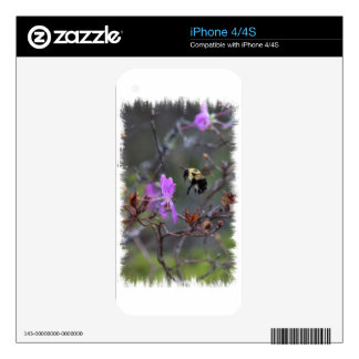 Bee and Wildflower Decal For The iPhone 4