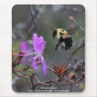 Bee and Wildflower Mouse Pad