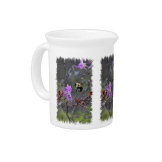 Bee and Wildflower Beverage Pitcher