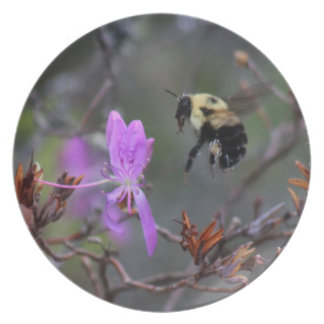 Bee and Wildflower Dinner Plate