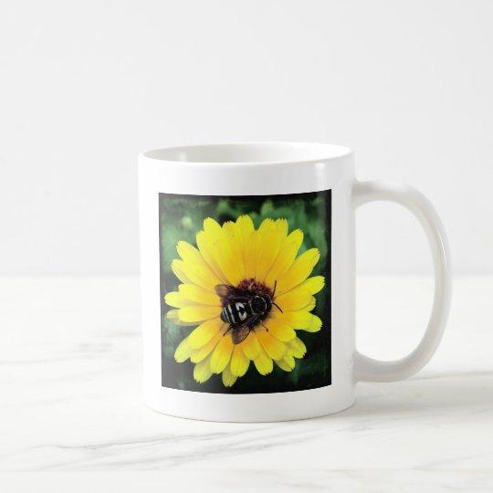 Bee and Yellow Flower Coffee Mug