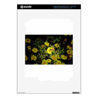 Bee and yellow flowers. iPad 3 decals