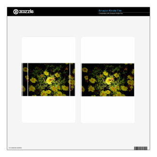 Bee and yellow flowers. kindle fire decal