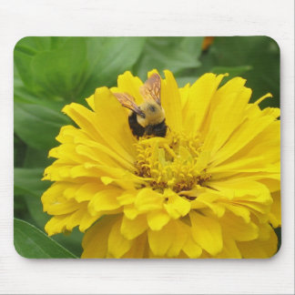 Bee and Zinnia. Mouse Pad