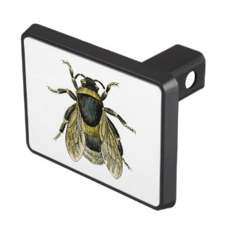 Bee antique illustration tow hitch covers