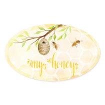 Bee Apiary Honey Jar Stickers