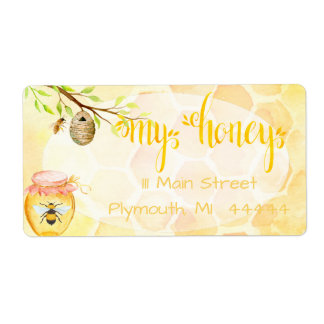 Bee Apiary Honey Shipping Labe Label