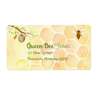 Bee Apiary Honey Shipping Labels