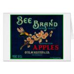 Bee Apple Crate Label