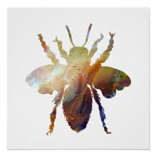 Bee art poster