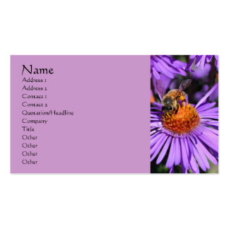 Bee Aster Flower Nature Photography Business Card