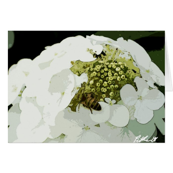 Bee at work white card