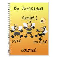 Bee Attitudes Journal Spiral Note Book