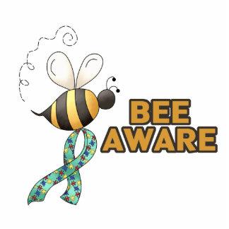 Bee Aware Autism Awareness Standing Photo Sculpture